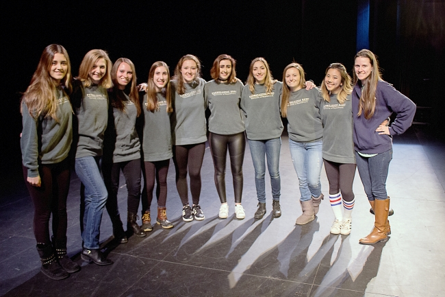 Panhellenic Council on Bid Day 2017